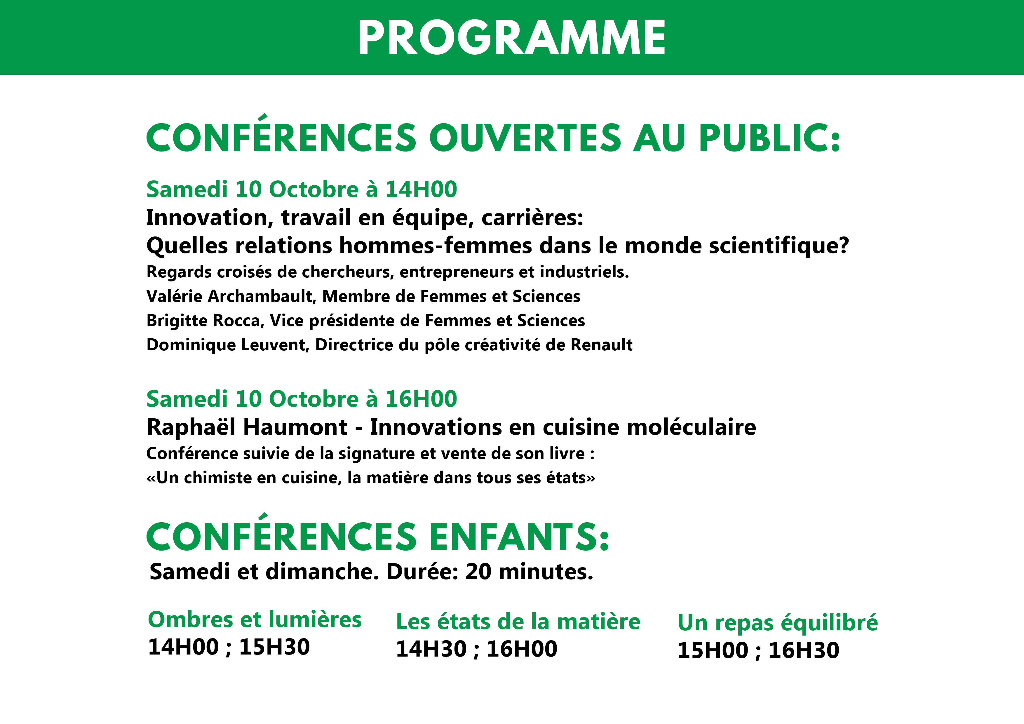 Programme FDS 2015